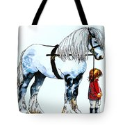 Horse And Groom Tote Bag