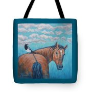 Horse And Magpie Tote Bag