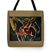 Horse And Man Tote Bag
