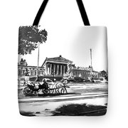 Horse And Parliament Tote Bag