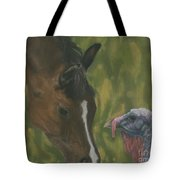 Horse And Turkey Tote Bag