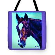 Horse Art Horse Portrait Maduro Striking Purple Tote Bag
