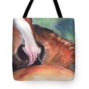 Horse Art In Watercolor Tote Bag