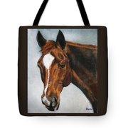 Horse Art Portrait Of Horse Maduro Tote Bag