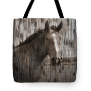 Horse At Home On The Range Tote Bag