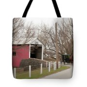 Horse Buggy And Covered Bridge Tote Bag