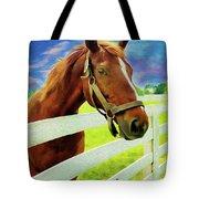 Horse By Nicholas Nixo Efthimiou Tote Bag
