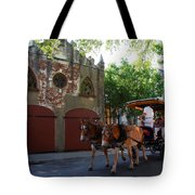 Horse Carriage At Kings Street Tote Bag