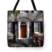 Horse Carriage In Charleston Tote Bag