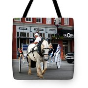 Horse Carriage In Nashville Tote Bag