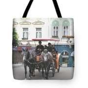 Horse Carriage Tote Bag