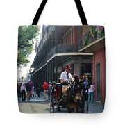 Horse Carriage Ride Tote Bag