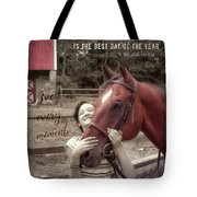 Horse Crazy Quote Tote Bag