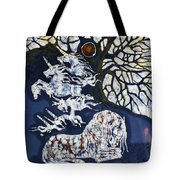 Horse Dreaming Below Trees Tote Bag by Carol  Law Conklin