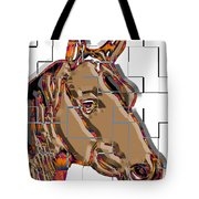 Horse Faces Of Life 4 Tote Bag