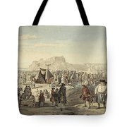 Horse Fair On Bruntsfield Links, Edinburgh Tote Bag