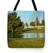 Horse Farm Pond Tote Bag