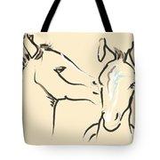 Horse-foals-together 6 Tote Bag