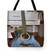 Horse Guitar Tote Bag