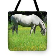 Horse In A Field Of Flowers Tote Bag