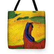 Horse In A Landscape 1910 Tote Bag