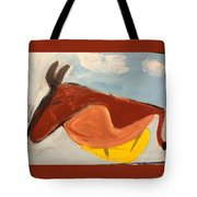 Horse In Contemplation Tote Bag