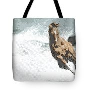 Horse In The Storm - Parallel Hatching Tote Bag
