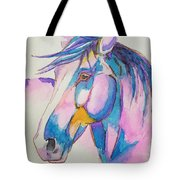 Horse In Pink  Tote Bag