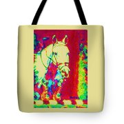 Horse Painting Jumper No Faults Psychedelic Tote Bag