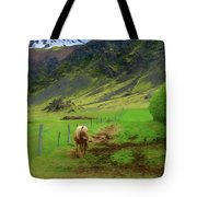 Horse On The South Iceland Coast Tote Bag