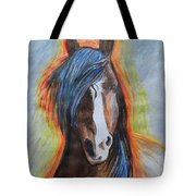 Horse Orange Tote Bag