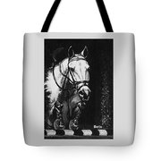 Horse Painting  Jumper No Faults Black And White Tote Bag