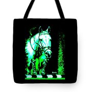 Horse Painting Jumper No Faults Black Blue And Green Tote Bag