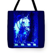 Horse Painting Jumper No Faults Blue Tote Bag