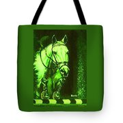 Horse Painting Jumper No Faults Deep Greens Tote Bag