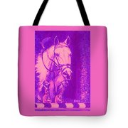 Horse Painting Jumper No Faults Hot Pink Tote Bag
