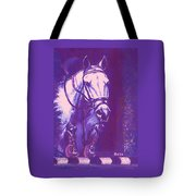 Horse Painting Jumper No Faults Lavender Tote Bag