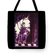 Horse Painting Jumper No Faults Purple Tote Bag