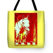 Horse Painting Jumper No Faults Red And White Tote Bag