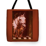 Horse Painting Jumper No Faults Soft Browns Tote Bag