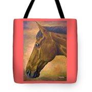 horse portraint PRINCETON pastel colors Tote Bag