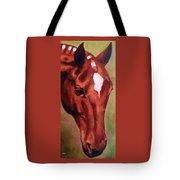 Horse Portrait Horse Head Red Close Up Tote Bag