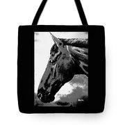 horse portrait PRINCETON black and white Tote Bag
