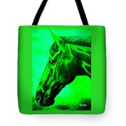 horse portrait PRINCETON green Tote Bag