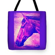 horse portrait PRINCETON pink Tote Bag