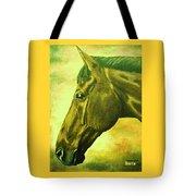 horse portrait PRINCETON soft colors Tote Bag