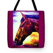 horse portrait PRINCETON wow purples Tote Bag