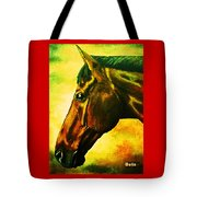horse portrait PRINCETON yellow Tote Bag