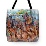 Horse Pull At The Fair Tote Bag