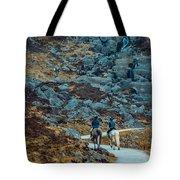 Horse Riders At Mahon Falls Tote Bag